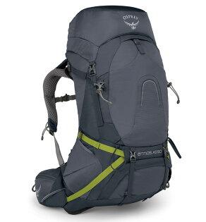 【Osprey美國】ATMOSAG50輕量登山背包自助旅行健行背包網架背包男款深淵灰〈容量50L〉/AtmosAG50