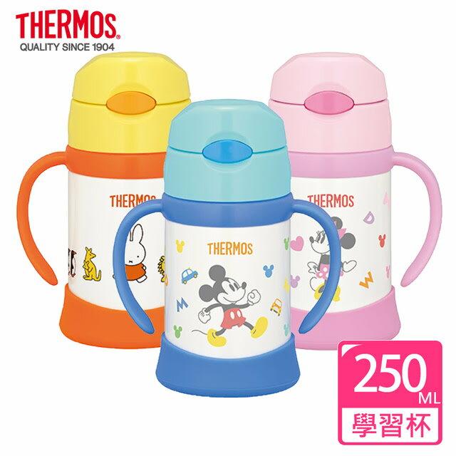 【淘氣寶寶】【THERMOS 膳魔師】不鏽鋼保冷保溫瓶 兒童雙耳學習杯 250ML (FHI-250DS) 原廠授權【米奇 / 米妮】【原廠公司貨】