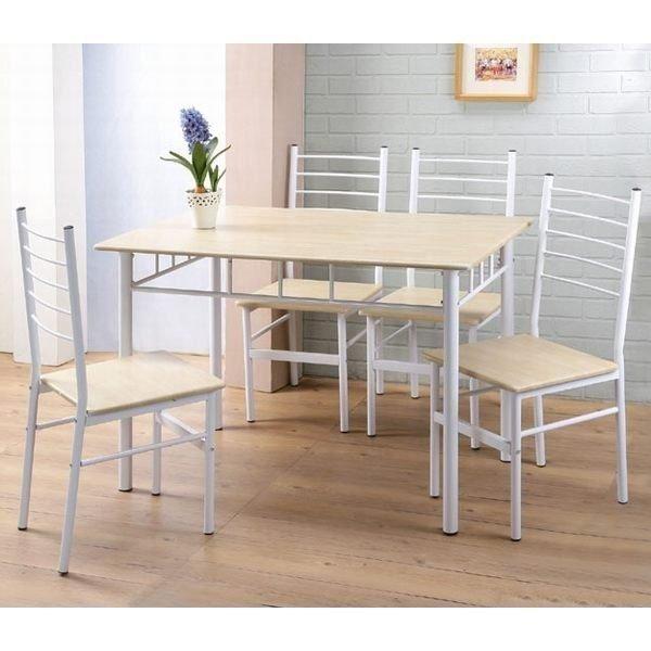 超優質餐桌椅組(一桌四椅) 餐桌  電腦桌 【馥葉】【型號DS041WH】不買可惜 數量有限。