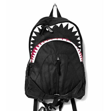 精緻防潑水尼龍舒適減壓雙肩鯊魚 後背包 大容量空間 柒彩年代~NZ460~ 機能包款