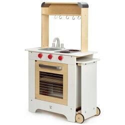 【免運費】《 德國 Hape 愛傑卡》移動式點餐廚具台