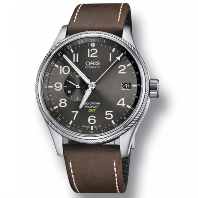 ORIS 豪利時 Big Crown ProPilot GMT小秒針飛行錶 0174877104063~0752205FC 灰 45mm