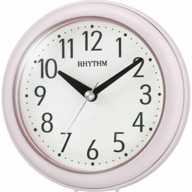 大高雄鐘錶城 RHYTHM 麗聲鐘(4KG711) 粉紅圓形時尚掛鐘/ 11.8cm