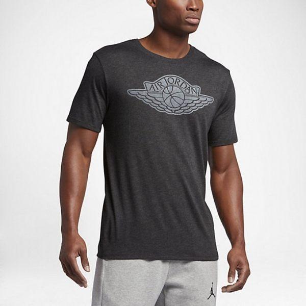 Nike Air Jordan Wings LOGO Tee 男裝 短袖 上衣 棉質 運動 灰【運動世界】834477-032【樂天會員限定 | 03/01-03/31單筆滿1000元結帳輸入序號『S..