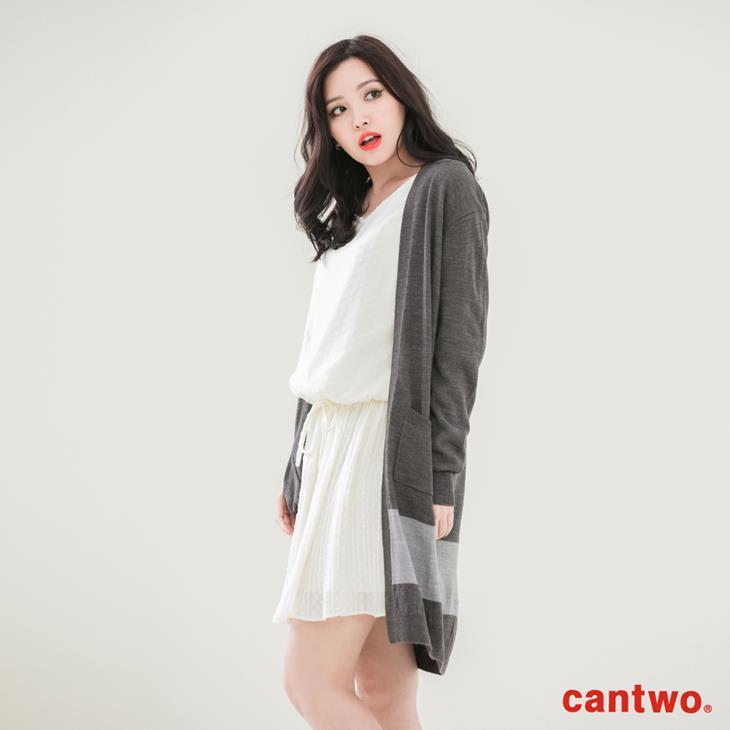 cantwo素色長版針織罩衫(共三色) 2