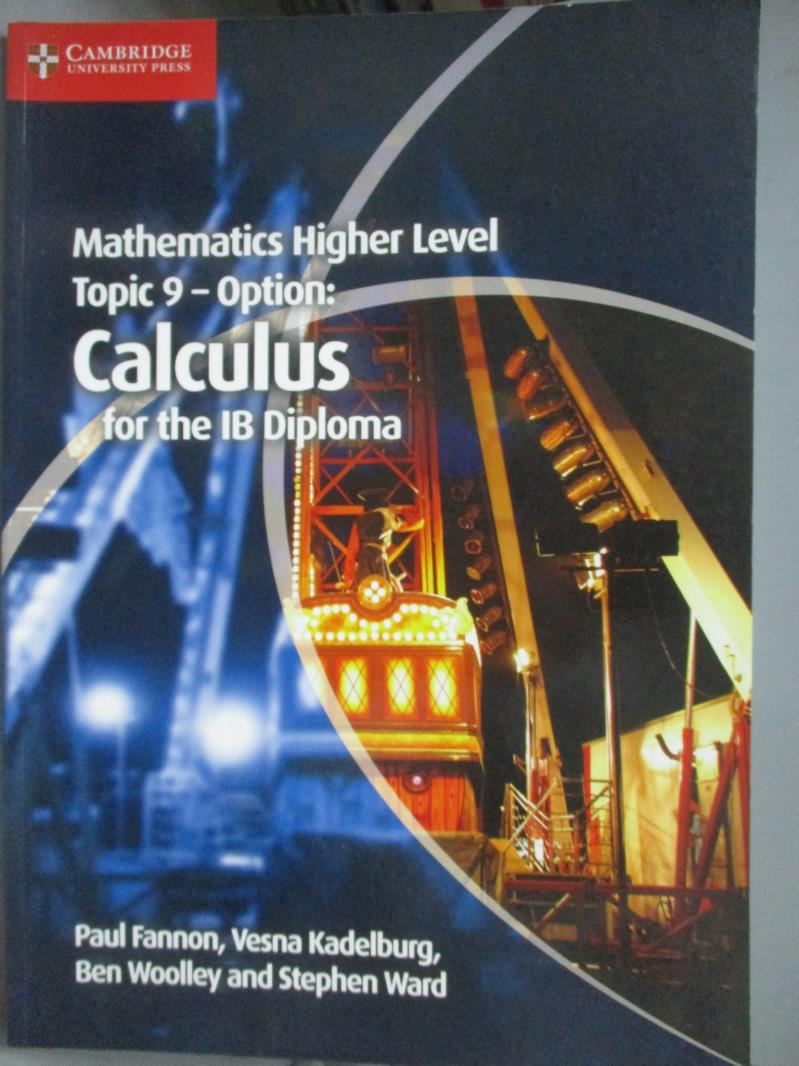 【書寶 書T2/大學理工醫_ZJO】Mathematics Higher Level Topic 9-Option
