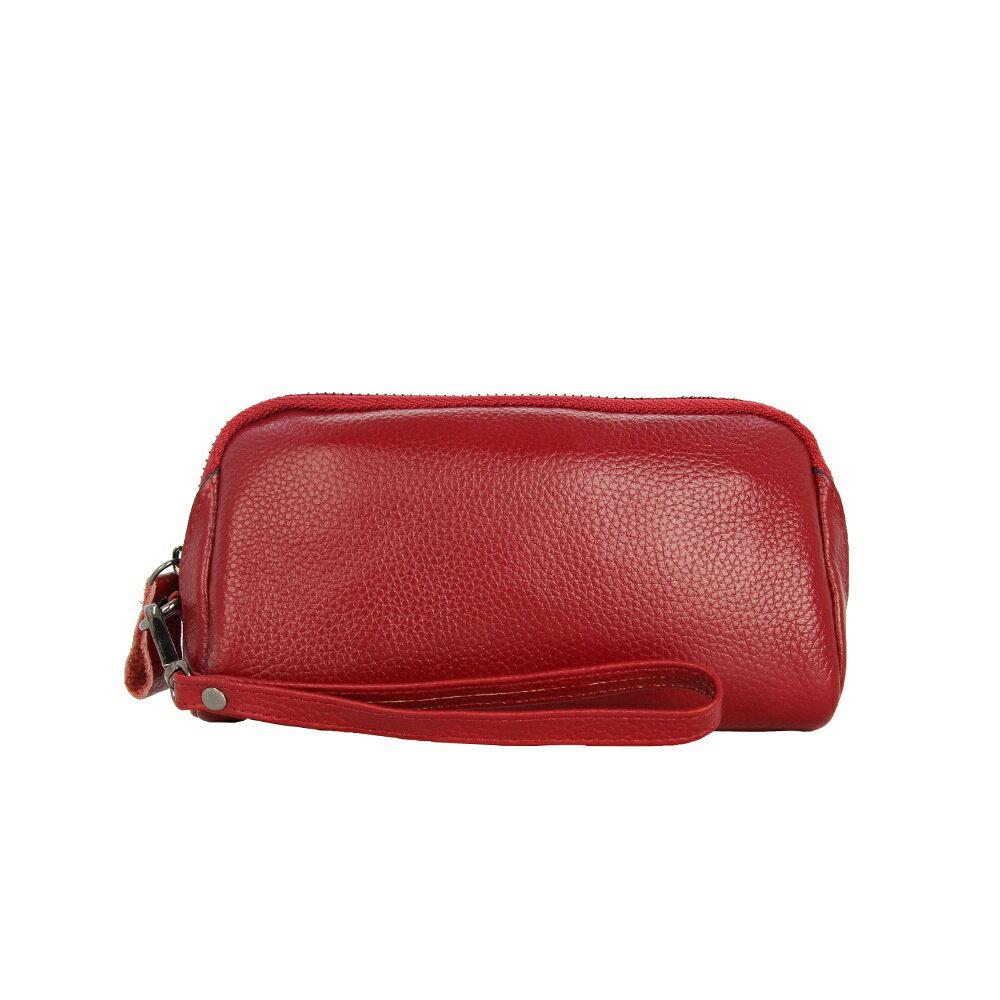 手拿包真皮錢包-經典簡約純色牛皮女包包5色73wz42【獨家進口】【米蘭精品】 0