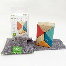 【淘氣寶寶】美國 TEGU 磁性積木6件組-Block Sunset