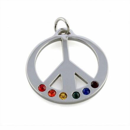 彩虹和平項鍊 鈦鋼磁石 編織手鍊 PU 磁石扣 同性 LES 手鍊 手環 沂軒 F0006