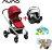 【組合再送-費雪音樂吊鈴+涼感座墊+玩偶(隨機)】荷蘭【Nuna】Ivvi 豪華手推車(紅)+PIPA提籃 0