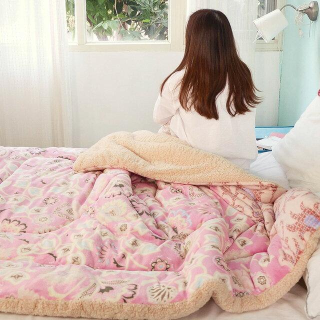 冬日自然蓄熱【瑪格麗特】厚版法蘭絨羊羔絨暖暖被(150×200cm)-絲薇諾 3