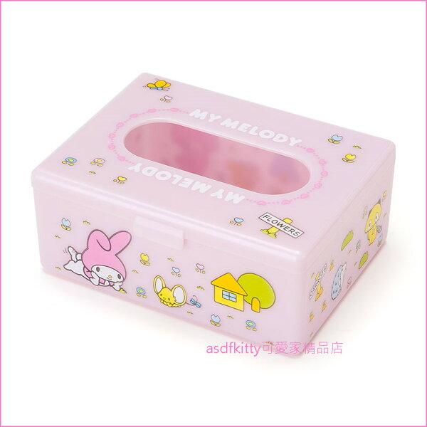 asdfkitty可愛家☆美樂蒂粉紅色迷你面紙盒收納盒置物盒-日本正版商品