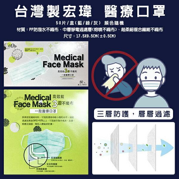 台灣製宏瑋 醫療口罩 50入/盒