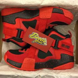 BEETLE PLUS 全新 商品 女生 NIKE AIR RAID GS 紅黑 交叉 魔鬼氈 綁帶 籃球鞋 644412-600 D-662 4.5Y/23.5CM