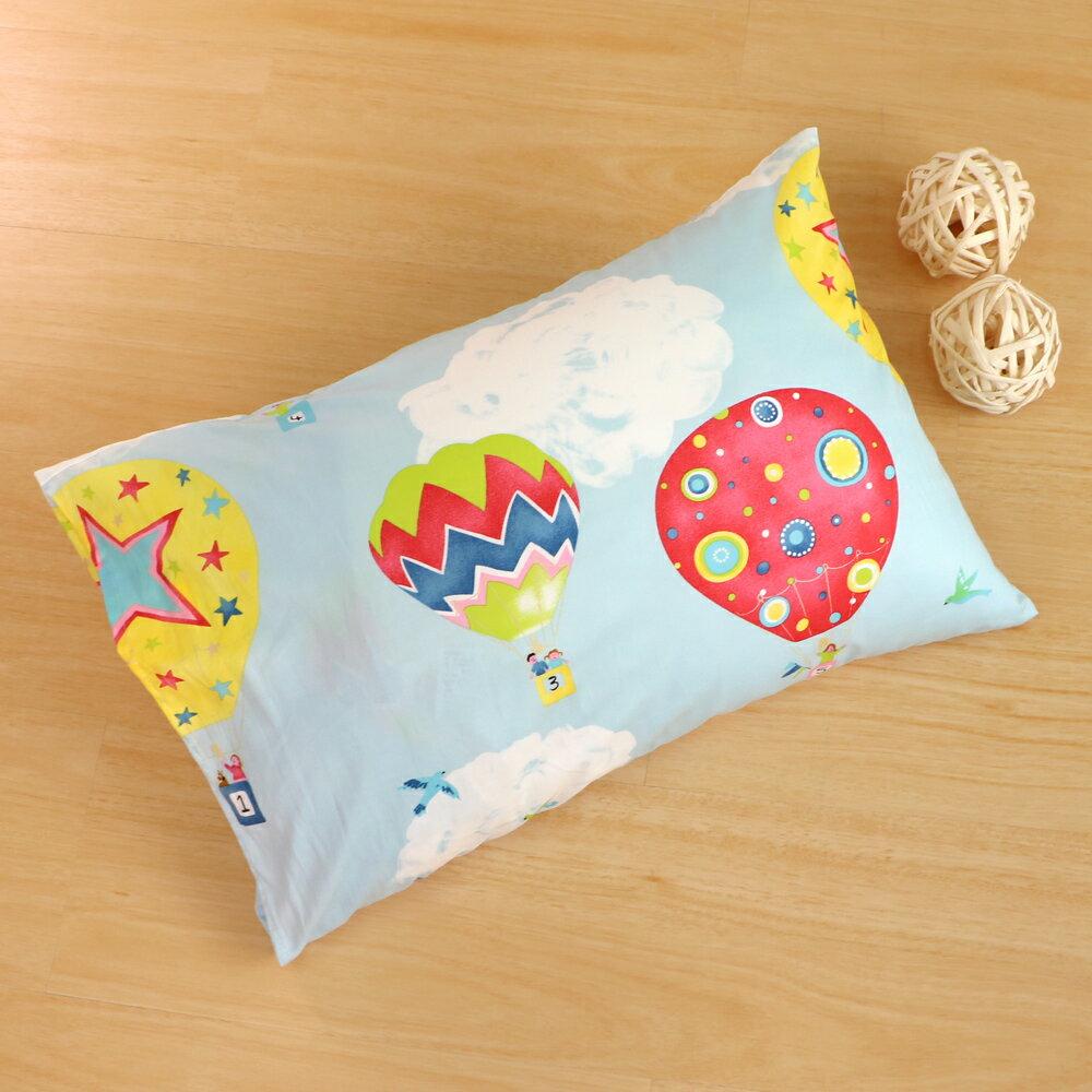 枕頭 兒童枕~防蹣抗菌纖維枕 精梳棉 熱氣球 美國棉 品牌 鴻宇  製~1576