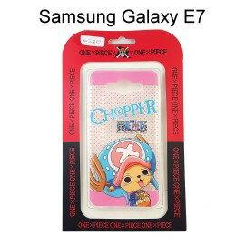 海賊王透明軟殼 [粉點] 喬巴 Samsung E7000 Galaxy E7 航海王保護殼【正版授權】