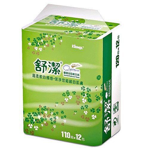 【舒潔】優質抽取衛生紙110抽(12包x6串)/箱