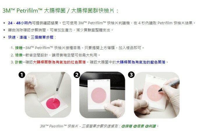【迪特軍3C】3M™ Petrifilm™ 大腸桿菌 (E.coli)/大腸桿菌群快檢片 6414 1