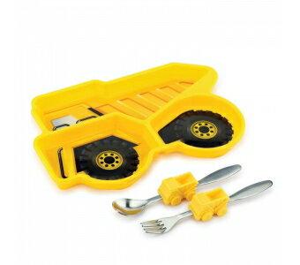 美國【KIDSFUNWARES】造型兒童餐盤組-工程車
