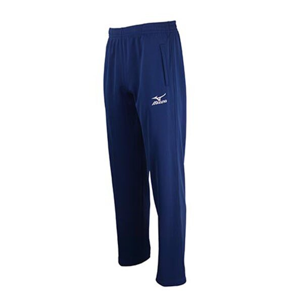 素色百搭輕柔舒適 針織運動套裝長褲 32TD5A3816(深藍)【美津濃MIZUNO】