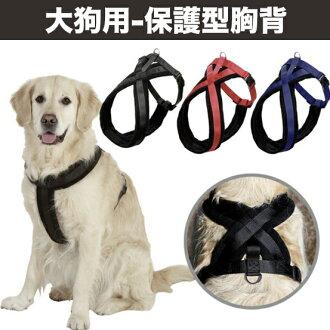 【小樂寵】大狗.X型加強防護絨面胸背帶.三色