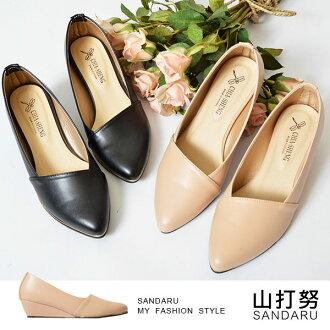 楔型鞋 斜邊金屬線尖頭楔型包鞋- 山打努SANDARU【035928#46】