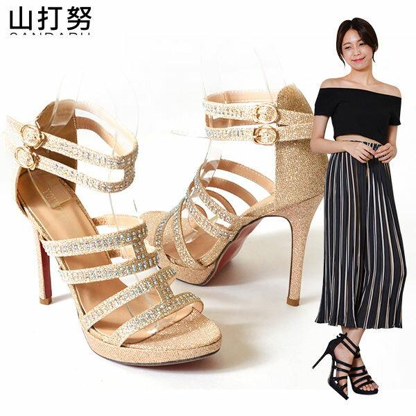 高跟涼鞋 水鑽羅馬二扣高跟鞋*- 山打努SANDARU【04A20121#36】