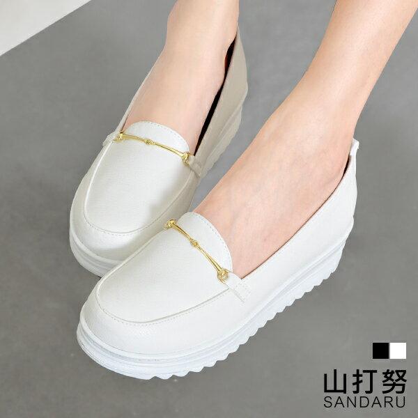 厚底包鞋 金線扣厚底休閒包鞋- 山打努SANDARU【101A616#46】