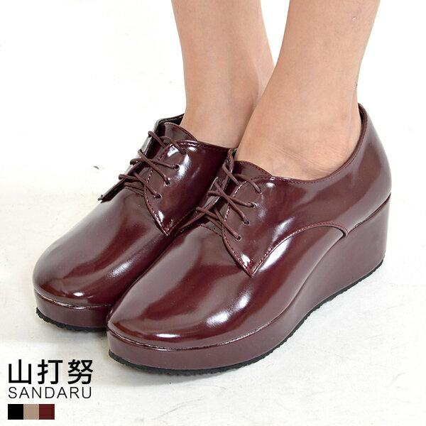 鬆糕鞋 漆皮綁帶鬆糕鞋*- 山打努SANDARU【046150#20】