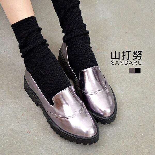 厚底懶人鞋 漆皮紳士鞋^~~ 山打努SANDARU~09935^#20~