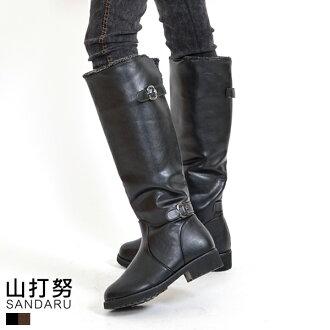 長靴 反折絨毛側釦長靴*- 山打努SANDARU【107F822#56】