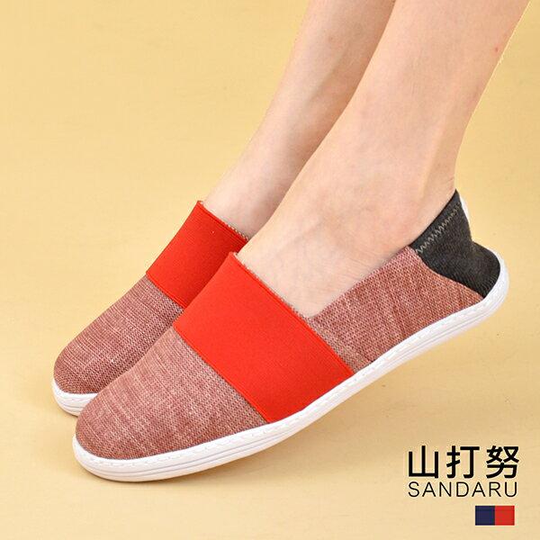 專櫃女鞋 兩穿後混色休閒鞋- 山打努SANDARU【29652963】紅色下單區