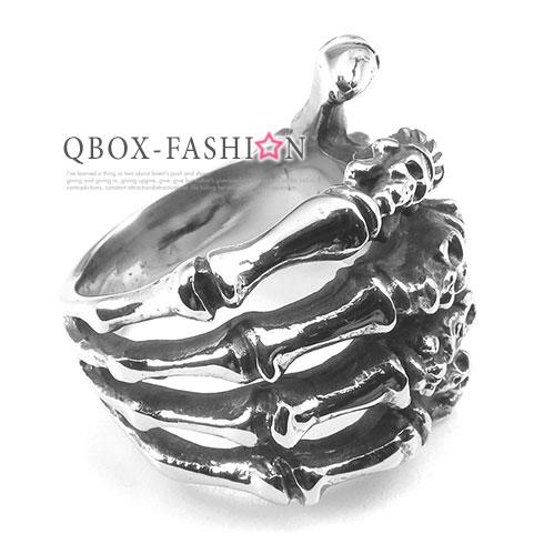 ~ QBOX ~FASHION 飾品~W10025247~精緻 骷髏爪鑄造316L鈦鋼戒指