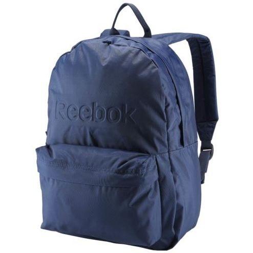 REEBOK BACKPACK 後背包 雙肩 鋼印 尼龍 書包 學生 深藍 【運動世界】 AJ6017