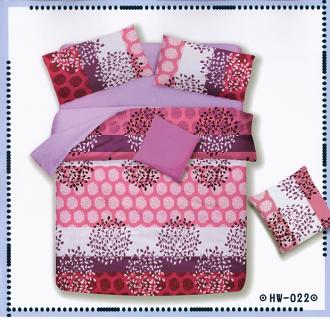 ✧臺灣製✧舒柔棉磨毛超細纖維床包組《HW-0022》5X6.2尺雙人床包組+兩用被 四件組◤彩虹森林◥