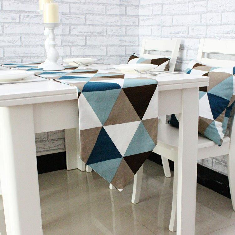 桌巾簡約幾何餐桌桌旗現代簡歐餐墊時尚布藝茶幾床旗床尾巾YJT 概念3C