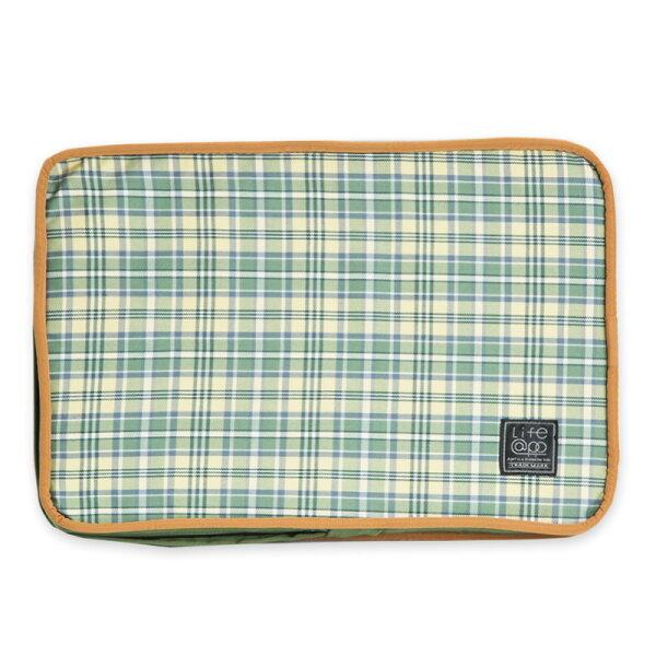 Lifeapp:《Lifeapp》睡墊替換布套XS_W45xD30xH5cm(綠格紋)不含睡墊