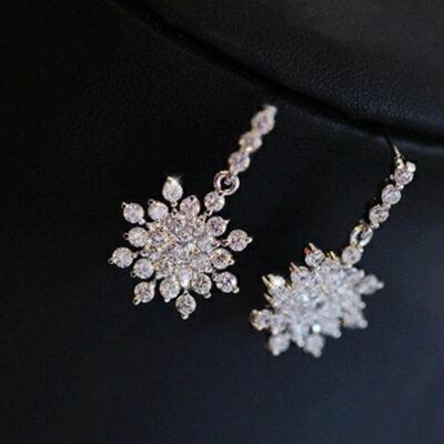 ~925純銀耳環鑲鑽耳飾~ 璀燦耀眼迷人情人節生日 女飾品73du26~ ~~米蘭 ~