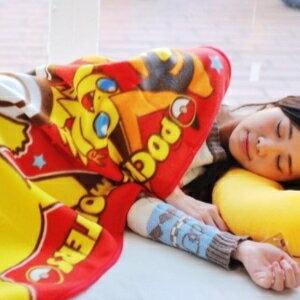美麗大街【105121410】比卡丘造型毯子冷氣毯 保暖毯 午休毯