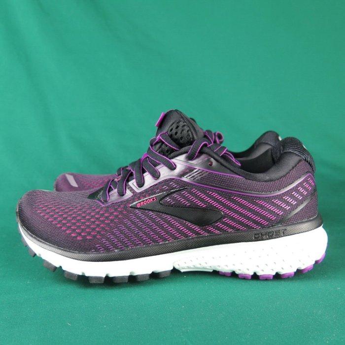 Brooks GHOST 12 平穩型 慢跑鞋 寬楦 1203051D063 女款 黑x深紫【iSport愛運動】