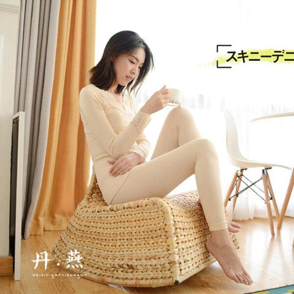 77美妝:HR秋冬竹纖維蕾絲發熱套裝(上衣+褲子)HENR1661