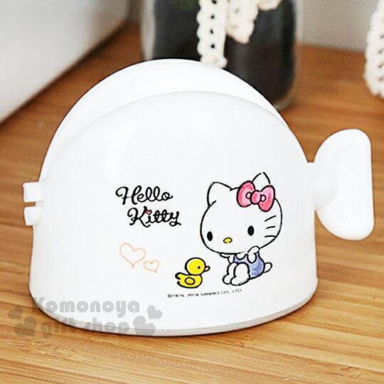 〔小禮堂韓國館〕Hello Kitty 浴室軟管擠壓器《白.藍吊帶褲.小鴨》素描系列