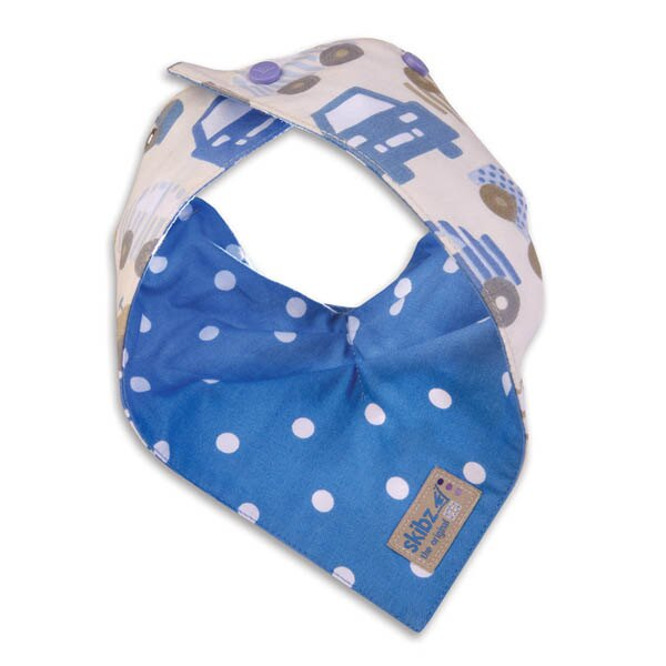 ★衛立兒生活館★英國 Skibz 汽車藍點時尚雙面領巾