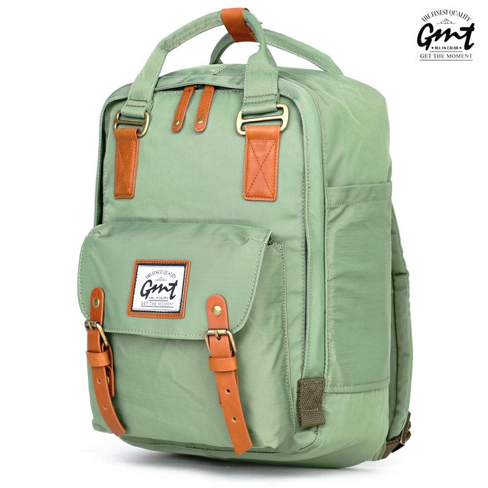 E&J【011013-01】免運費,GMT挪威潮流品牌 時尚休閒後背包 綠色 ;旅遊包/登山包/雙肩背包/文青/書包旅行