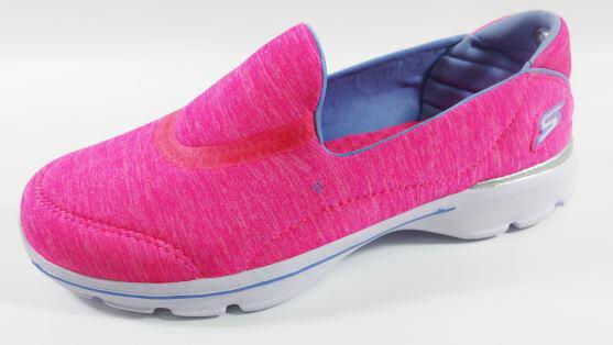 [陽光樂活] SKECHERS 中童鞋 GoWalk3 超軟Q底 桃紅雪花 送貼紙 81076LNPNK