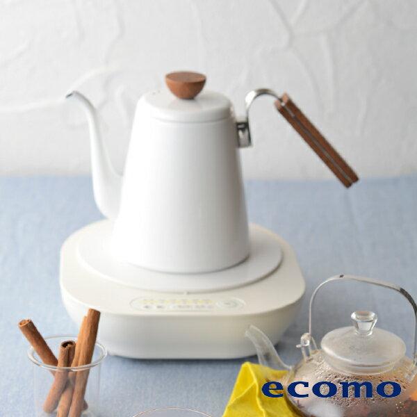 【領券現折+點數回饋$506】日本 ecomo ( AIM-CT104 ) cotto cotto IH電磁爐 x HARIO琺瑯細口壺組 2