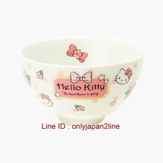 【真愛日本】4901610191132 日本製陶瓷碗-KT 三麗鷗 Hello Kitty 凱蒂貓 飯碗 湯碗