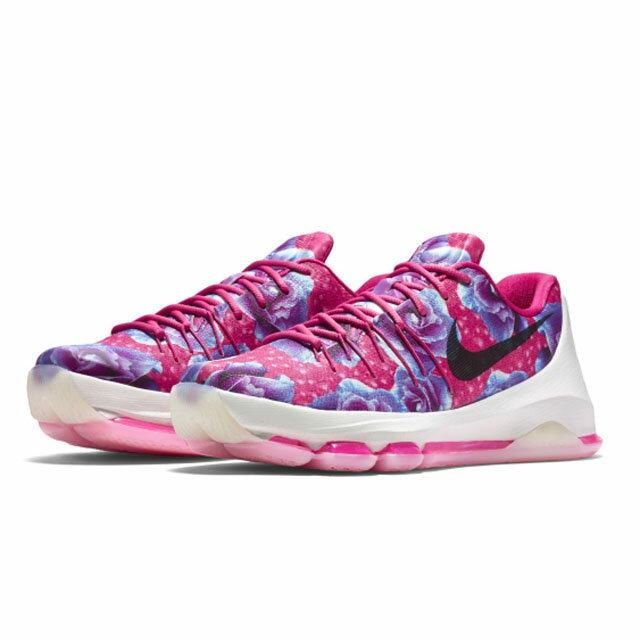 [27cm]《限時特賣↘6折免運》Nike KD 8 Aunt Pearl Z8 男鞋 籃球 乳腺癌 花 桃紅 紫 【運動世界】 819149-603