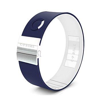 UFC MMA體驗美國科技平衡手環C.Prime手環~頂尖運動員的致勝關鍵~健身房時尚手環-04藍白