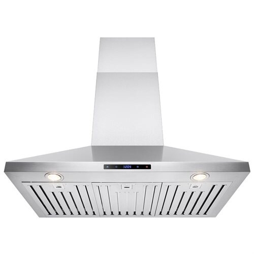 """36"""" Stainless Steel Wall Mount Range Hood Touch Screen Display Light Lamp Baffle Filter 1"""
